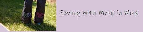 Sewing With Music in Mind Banner